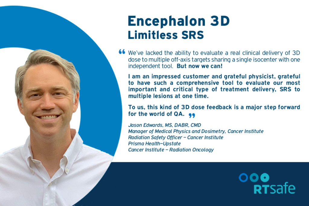 Encephalon 3D meets current challenges in SRS QA
